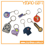 Anello portachiavi su ordinazione del PVC, catena chiave per i regali promozionali (YB-PK-05)