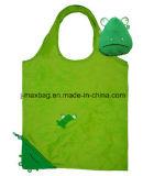 Sac à provisions pliable, type animal de grenouille, sacs réutilisables, légers, d'épicerie et maniable, accessoires et décoration, cadeaux, promotion