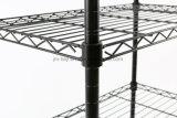 Блок Shelving провода 5 ярусов, регулируемый стальной Shelving коммуникационного провода, шкаф хранения 5 полок с колесами & конюшня выравнивая ноги, черные