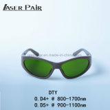 Óculos de proteção protetores do olho dos óculos de proteção de segurança do laser para óculos de proteção protetores de laser de vidros da segurança do laser 800-1700nm para o diodo láser do comprimento de onda do OEM