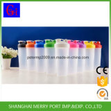 9つのカラーの直接工場熱い販売のプラスチックシェーカー600ml