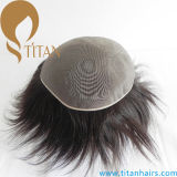 Kundenspezifische Ordnungtoupee-volle niedrige Haar-monosysteme annehmen