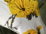 Maglietta bella delle signore stampata crisantemo puro di estate
