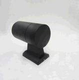IP65 imprägniern Zylinder 10W PFEILER LED Wand-Leuchter-Vorrichtungs-Lampen-Hochleistungsim Freien einzelne Aluminiumseite