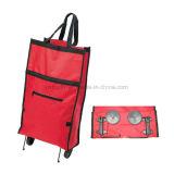 Grande sacchetto di drogheria piegante della borsa del carrello del sacchetto del carrello di acquisto con 2 rotelle