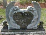 Cemitério memorável do anjo do anjo do dobro do Headstone do anjo do granito para o estilo americano