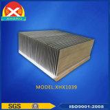 Dissipatore di calore di alluminio dell'aletta per gli apparecchi elettronici con ISO9001: 2008 diplomato