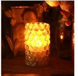 Candela del LED in supporto di vetro, supporto di candela di vetro