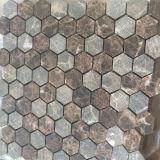 Горячая плитка пола мозаики камня плитки мрамора шестиугольника надувательства