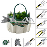 Les ensembles d'outils de jardin 9 pièces incluent une corde végétale et une paire de gants de travail, 6 têtes en aluminium moulé lourd avec poignées ergonomiques et un sac fourré au jardin Esg10154