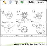 Dissipatore di calore di alluminio dell'espulsione di profilo del tubo del cerchio