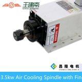 охлаженный воздухом высокочастотный мотор шпинделя 3.5kw с фланцом для гравировального станка Woodworking CNC