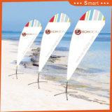 indicador de encargo de la pluma de la lágrima 2PCS para publicidad o Sandbeach al aire libre o del acontecimiento