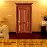 Projeto de madeira da porta principal do Teak clássico do estilo (GSP2-046)