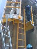 Escada elevada da capacidade de carregamento FRP/GRP com perfis do Pultrusion