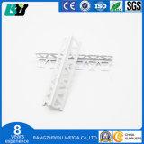 Cordón de la esquina de PVC para pared enyesado con malla de fibra de vidrio de 10cm.