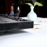 Schöner Entwurfs-reines schwarzes Granit-Tee-Tellersegment als Tee-Zubehör