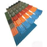 カラー上塗を施してある屋根ふきの鋼鉄タイル