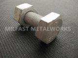 La norme ASTM A307 dirigé avec un boulon563 Heavy l'écrou hexagonal (zingué galvanisé à chaud)