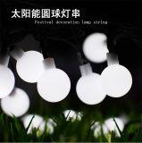 Hochzeitsfest Multicolorful Birnen-Kugel-Laterne-Lampen-Licht der weiße Bodenwand-Solarzeichenkette-Streifen-Dekoration-LED