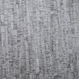 Cuoio artificiale sventato del sacchetto del PVC del Brown di colore di albero del grano grigio della corteccia
