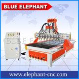 1325台の青い象マルチスピンドル木工業CNC機械販売のための木製デザイン打抜き機
