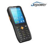 scanner tenu dans la main PDA du code barres 4G/3G/GPRS avec l'androïde fonctionnant