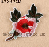 Fer en gros de vêtement de vêtement de mode sur la connexion de fleur de broderie d'Applique