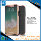 Caisse protectrice en verre Tempered 360 du PC TPU pour l'iPhone X