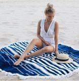 女性の夏の軽くて柔らかい円形のビーチタオルの帽子160cm