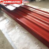 Hoja modificada para requisitos particulares prepintada del material para techos del material de construcción en alta calidad
