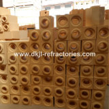 Brique réfractaire de turbine ou brique de pipe d'argile réfractaire