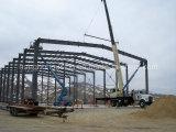 Casa pré-fabricada de grande resistência clara da construção de aço