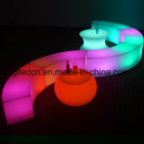 Banqueta LED funciona com mobiliário de eventos de plástico Li-Battery para venda