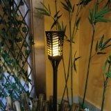 Utilisé dans le jardin de la danse de la flamme flamme solaire lumière à LED
