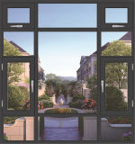 Het Openslaand raam van het Aluminium van de Deklaag van het poeder