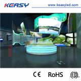 P10 Ronda Criativo Interior Display LED curvada para instalação fixa