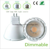Dimmable 3W blanco MR16 LED COB