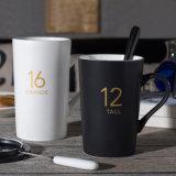 Zwarte Mok van de Steen van de Mok van de Koffie van het Steengoed van de Mok van de Melk van de sublimatie de Zwarte Zwarte Ceramische