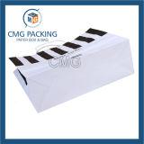 Negro impresión de la raya cosmético del bolso de mano (DM-GPBB-055)