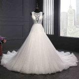Reizvolles Backless nach Maß Hochzeits-Kleid