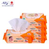 De Verfrissende Natte Wipes/ISO Bevestigde Baby van uitstekende kwaliteit van de Baby veegt af