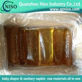 衛生パッドの原料の熱い溶解の接着剤