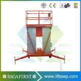 platform van het Werk van de Lift van 8m tot van 12m het Lichtgewicht Towable LuchtPlatforms Opgeheven