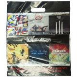 2018 Des sacs en plastique avec poignée de découpe des sacs de magasinage (FLD-8552)
