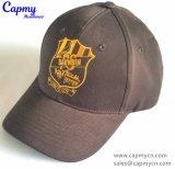 Gorra de béisbol plana de Brown oscuro del bordado
