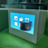 Yashi 10 pulgadas de pantalla LCD transparente Caja para TV LCD Exposición escaparate Shopping Mall