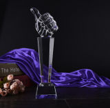 Premio di cristallo del trofeo di alta qualità per il commercio