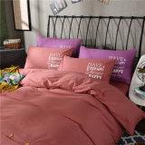Jogos liso do fundamento da tampa do Comforter do algodão do cerco 100 da tecla da cor de Canadá Brown e da folha de base