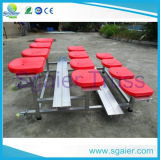 Gradas de aluminio, gimnasio cubierto Gradas Gradas portátiles, usadas para la venta